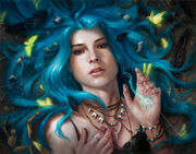 Portrait of Karou, from Laini Taylor's amazing Daughter of Smoke and Bone series