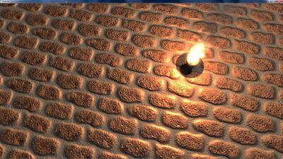 Urho Blender seamless procedural material bricks