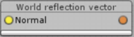 World reflection vector