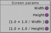 Screen params