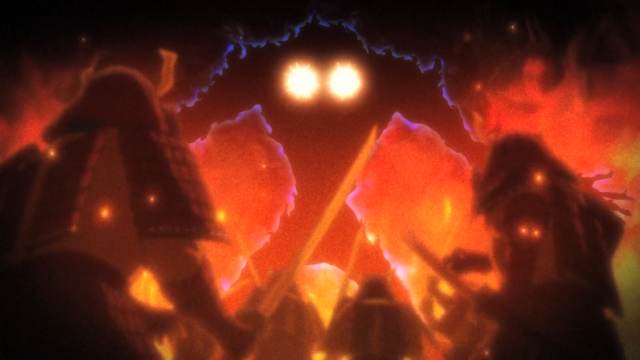 File:Episode 2 - Ishikui turning people into stone before devouring them.png