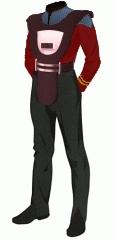 Uniform duty red lt security armor