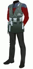 Uniform duty red ensign engineering vest