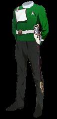 Uniform Dress Officer Green