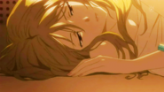 Miharu taking a nap after school activities