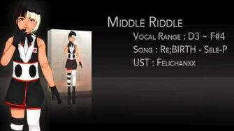 【UTAUカバー】 Re;BIRTH 【Middle Riddle】