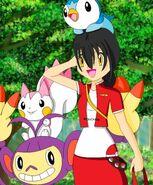 Emiko and her Pokémon