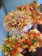 Agatha - orange wedding bouquets