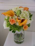 Agatha - wedding bouquet - orange and white