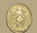 Gold Button from a French Uniform
