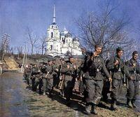 Troops retreat