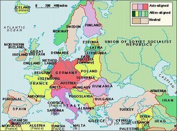 Map of World War 2