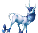 Forget Me Not Heraldic Unicorn