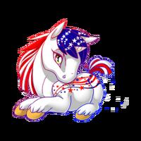 Patriotic Unicorn Baby