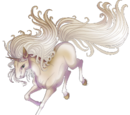 Cremello Unicorn