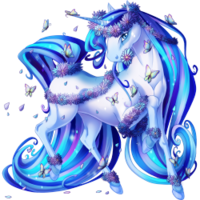 Blue Butterfly Unicorn V2