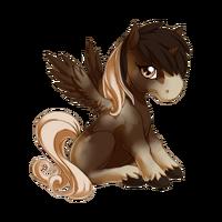 Bay Pinto Alicorn Baby
