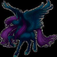 Midnight Shimmer Alicorn
