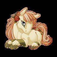 Antique Rose Unicorn Baby
