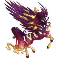 Sunset Stripes Pegasus