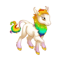 Celestial Rainbow Heraldic Unicorn Baby