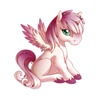 Blushing Blossoms Alicorn Baby