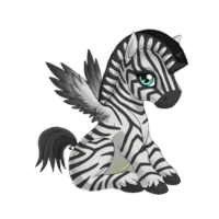 Zebra Alicorn Baby