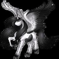 Monochrome Alicorn