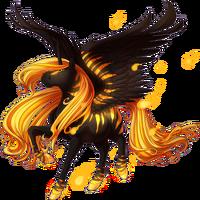 Infernal Lantern Alicorn