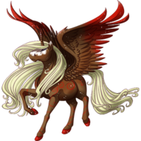 Raspberry Chocolate Swirl Alicorn