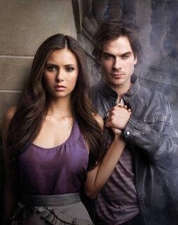 Elena-and-damon-poster season one