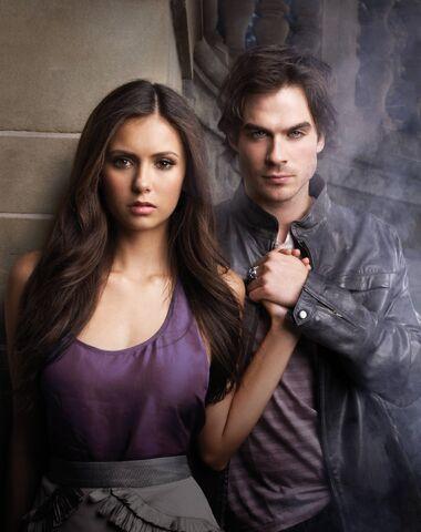 File:Elena-and-damon-poster season one.jpg