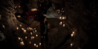 Cave and underground tunnels