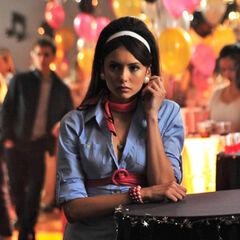 Elena at the 50's decade dance.