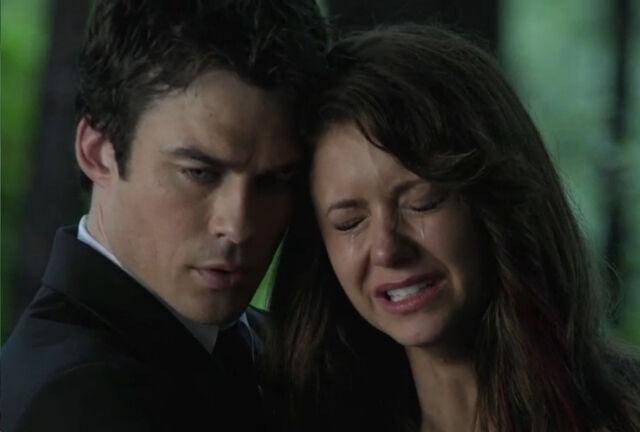 File:Elena-and-damon-funeral-scene.jpg