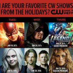 The CW fechas de regreso después del invierno 2016