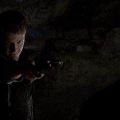 Vaughn with his bolas shotgun