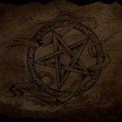 An inverted pentagram, part of the Hunter's mark