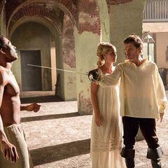 Marcel, Rebekah, and Klaus