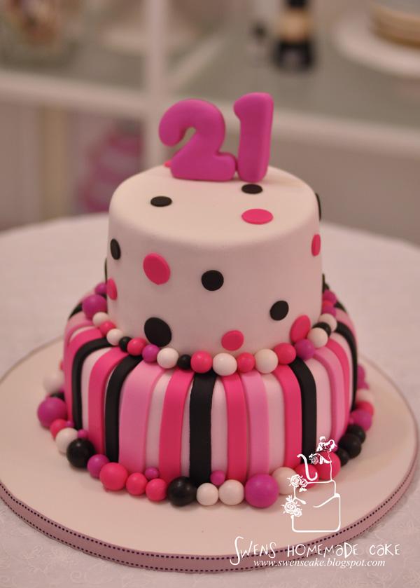 Image St Birthday Cake Pinkjpg The Vampire Diaries Wiki - Latest 21st birthday cakes
