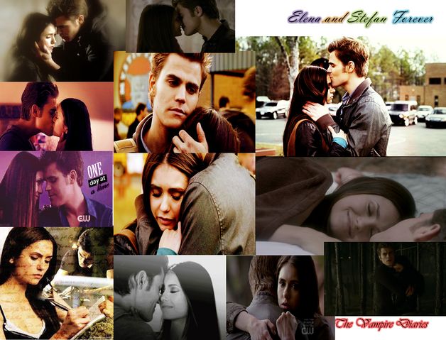 File:Elena and stefan forever.png