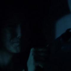 Elena trying to wake Matt up