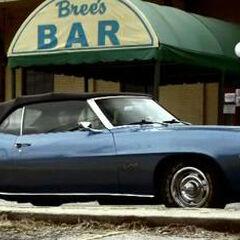 Car outside Bree's Bar