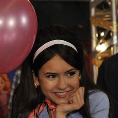 Elena at the school dance.