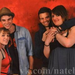 Nathaniel Buzolic (Kol) and Daniel Gillies (Elijah) with fans =)
