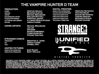 Vampire Hunter D Message from Mars Credits