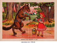 Illustration-in-french-edition-of-little-red-riding-hood-c-1913-a-erej84
