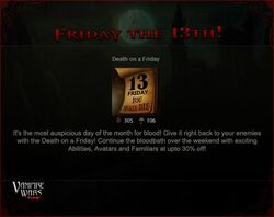 Friday the 13th (July 2012) promo