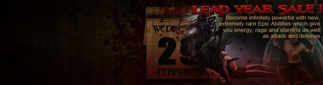 Leap year sale banner