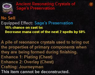 Ancient resonating crystals sages preservation